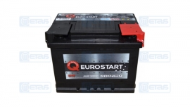 Акумулятор EUROSTART 60Ah (-/+) (550EN) Е