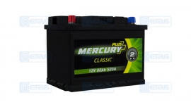 Акумулятор MERCURY CLASSIC Plus(-/+)60Ah(520EN) ЕВ